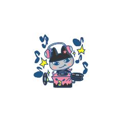 Kuromametchi as a DJ