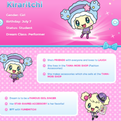 Kiraritchi's Profile on TamagotchiFriends.com