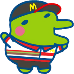 Kuchipatchi wearing a McDonald's uniform