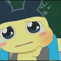 Mametchi with a swollen cheek
