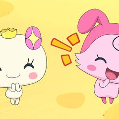 Momotchi and Himetchi in GO-GO Tamagotchi!