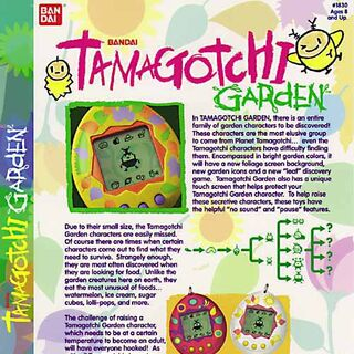 Promotional flyer for the <b>Tamagotchi Garden</b>.