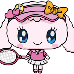 Yumemitchi in a tennis outfit.