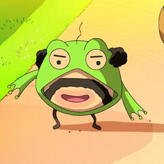 Oyajitchi in a frog suit