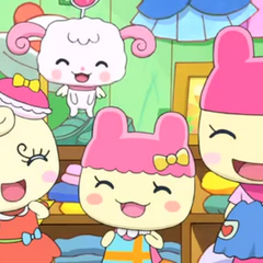 Mamametchi with Chamametchi and Coffretchi