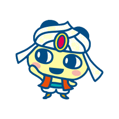 Mametchi wearing Arabian clothing