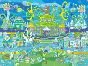 Mermaid palace artwork