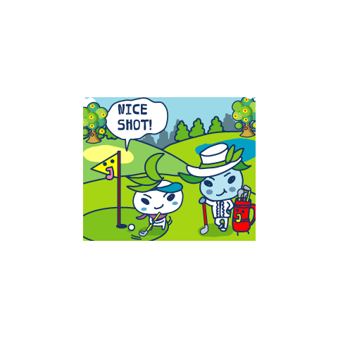 Kizatchi and Papakizatchi playing golf