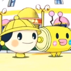 Kandentchi with Jidoutchi in Tamagotchi: Happiest Story in the Universe!