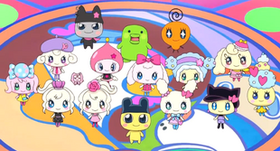 Tama-Friends in GO-GO Tamagotchi! Opening