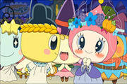 Himespetchi accepts Mametchi's dance offer