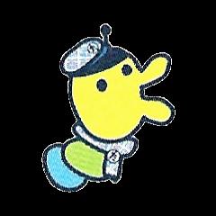 Minotchi wearing a school uniform