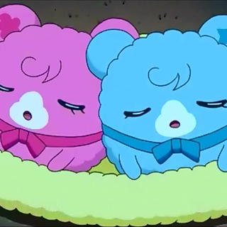 Sopratchi and Doremitchi sleeping in the anime