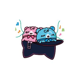 Sopratchi and Doremitchi sleeping in Melodytchi's hat