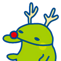 Kuchipatchi dressed as a reindeer