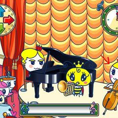 Princess Tamako playing the cello on the concert game in the Royal Cruise Ship on the <a href=