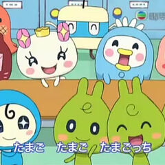 Atsuatsutchi in one of Tamagotchi! opening themes