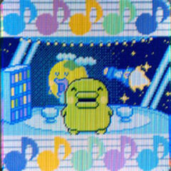 Closeup of Kuchipatchi on the Tamagotchi iD L