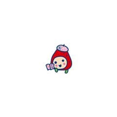 Ichigotchi with a school cap and book
