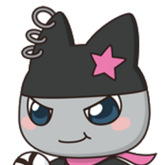 Kuromametchi with a soccer ball.
