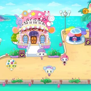 Music Cafe in the Dream Town game.