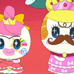 Princess Tamakoko and Princess Tamako wearing silly makeup