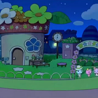 Violetchi's house from the anime show, Tamagotchi!.