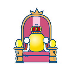 Gotchi King on his throne