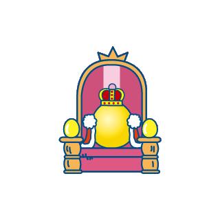 Gotchi King on his throne