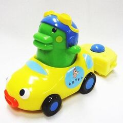 A Happy Meal toy of Kuchipatchi as a racer
