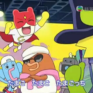 Cameratchi and Senior Turtletchi in one of Tamagotchi!'s opening themes