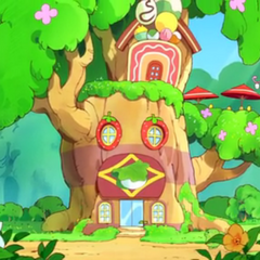 The Wagassierbon's new location in Patchi Forest during <i>GO-GO Tamagotchi!</i>
