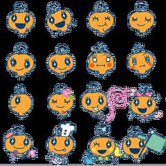 Various poses of Memetchi