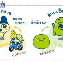 The Personality Stage forms of Mametchi and Kuchipatchi, from <i><a href=