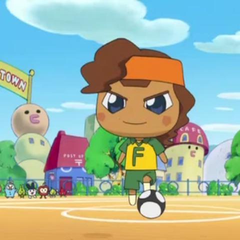 Forwardtchi preparing to play soccer