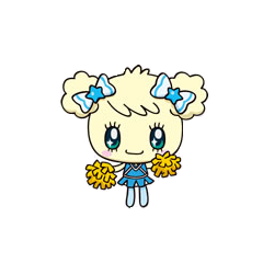 Kiraritchi as a cheerleader
