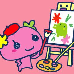 Violetchi as a painter