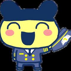 Mametchi as a pilot
