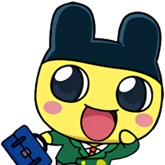 Artwork of Mametchi in a school uniform.