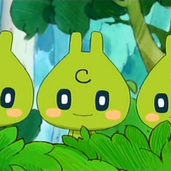 The Eco-usatchi triplets in the anime