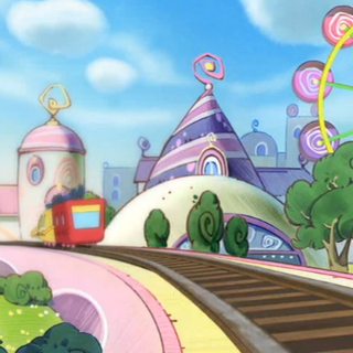 Guruguru Town's depiction in Tamagotchi: The Movie