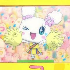 Lovelin as a cheerleader