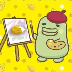 <i>Sorette, Kuchipatchi.</i> artwork of Kuchipatchi as a painter