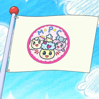 A flag with an image of the MoriPakuCoffret Group