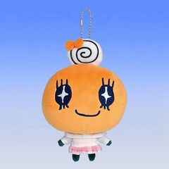 A keychain plush of Memetchi in a school uniform