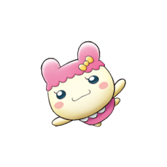 Artwork of Chamametchi flying for <i>Tamagotchi: Happiest Story in the Universe!</i>