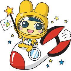 Mametchi as an astronaut