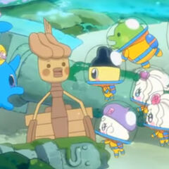 Mametchi and his friends find Boatchi