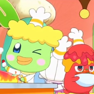 Mr. Grilltchi cooking in episode 1 of Yume Kira Dream