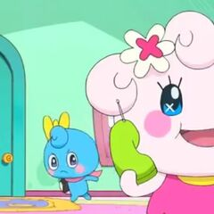 Neenetchi talking on the phone